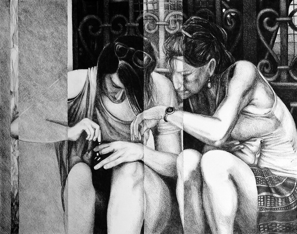 Losing my time in this fear of living, 2016, 50-65cm, graphite crayon on paper by oanaunciuleanu