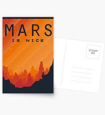 MARS Space Tourism Reiseplakat Postkarten
