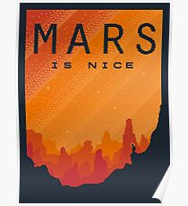 MARS Space Tourism Travel Poster Poster