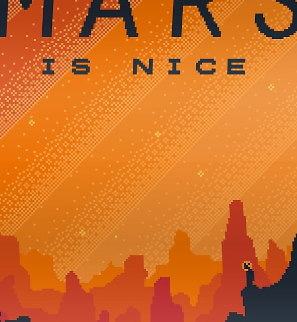 MARS Space Tourism Travel Poster by sp8cebit