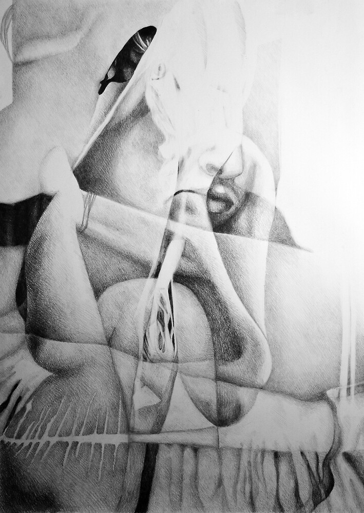 Lock me up inside, 2016, 50-70cm, graphite crayon on paper by oanaunciuleanu