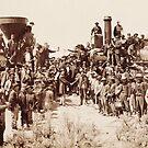 Transcontinental Railroad - Golden Spike Ceremony by warishellstore