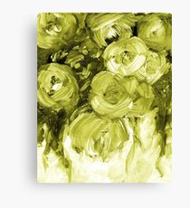Sap Green Roses Painting 170601 Canvas Print