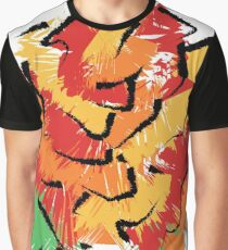 Brushstroke Rose Graphic T-Shirt