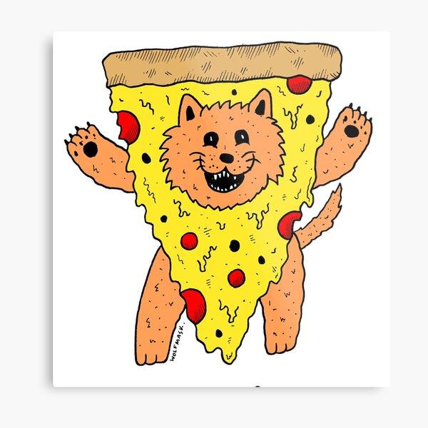 Pizzacat Metal Print