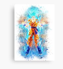 Blue Goku - Bragon Ball Z Canvas Print