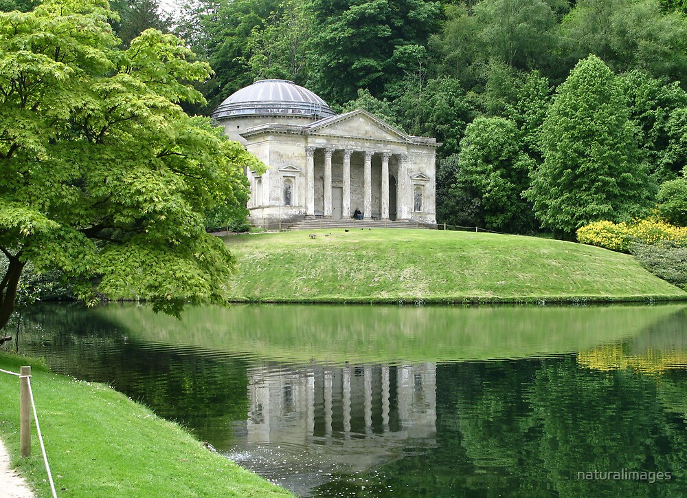The Pantheon at Stourhead Garden,Wiltshire by naturalimages