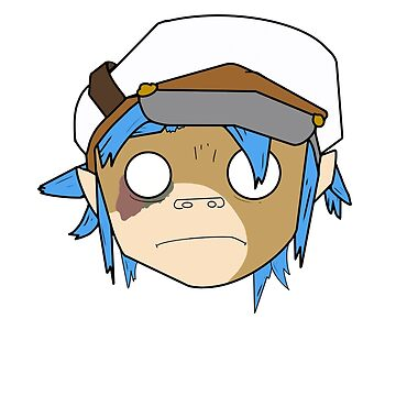Gorillaz 2D Simplistic (coloured, shaded, no background) by BaileyChapman