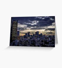 Mexico City Night Skyline  Greeting Card