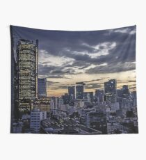 Mexico City Night Skyline  Wall Tapestry