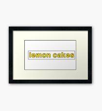 lemon cakes Framed Print