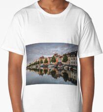 Sunset at colourful Christianshavn Long T-Shirt