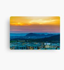 Landscape Scene Condominium Houses at Guayaquil, Ecuador Canvas Print