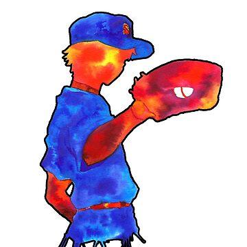 Baseball Watercolor by mopotter167