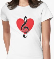 I Love Music Women's Fitted T-Shirt