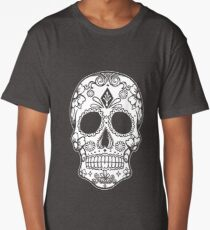 Sugar Skull - Day of the Dead Graphic T shirt Tees Collections Long T-Shirt