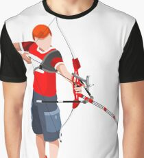 archery athlete sport player Graphic T-Shirt