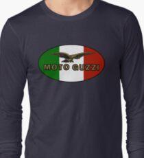 Moto Guzzi ITALIAN FLAG Long Sleeve T-Shirt