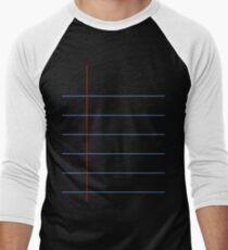Gel Pen Paper - Black Lined Journal Paper T-Shirt