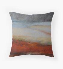 Red sand DUNE 1 Throw Pillow