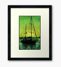 Sunrise Sailing Print Framed Print