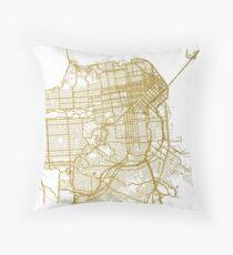 San Francisco Karte Dekokissen