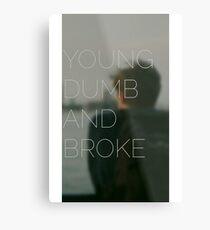 Young, Dumb & Broke  Metal Print