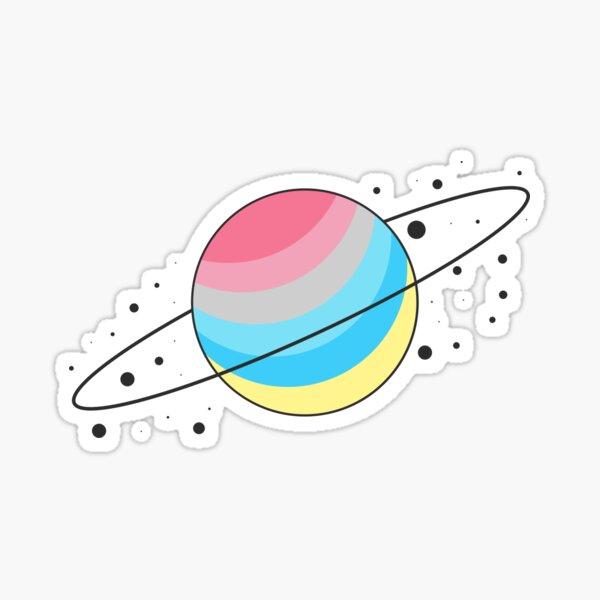 Genderflux Pride Planet Sticker