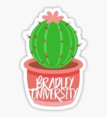Bradley University Cactus Sticker