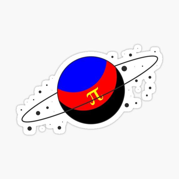 Polyamorous Pride Planet Sticker