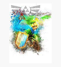 Link 2 - Zelda Photographic Print