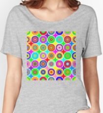 Geometric Psychedelic Mandalas Women's Relaxed Fit T-Shirt