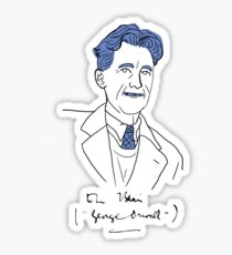 Minimalist George Orwell Sticker
