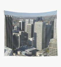 Calgary City Skyline  Wall Tapestry