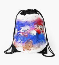 Mario & Sonic Drawstring Bag