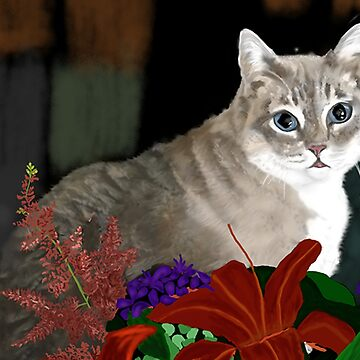 Tinkerbell Kitty and Flowers by melasdesign