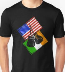 Boxing Shirt USA versus Ireland Design T-Shirt