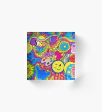 Hippie Vibes Acrylic Block