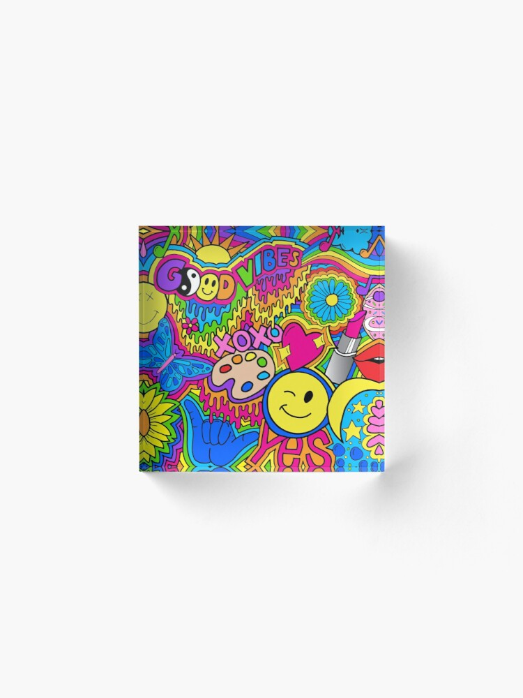 Alternate view of Hippie Vibes Acrylic Block