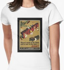 Women Workers Needed WW2 Womens Fitted T-Shirt