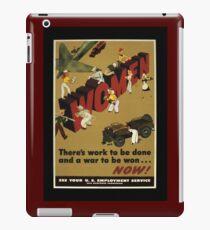 Women Workers Needed WW2 iPad Case/Skin