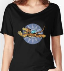 Flying Tigers Tshirt - Weathered Version - Airplane Insignia - World War II - Military Memorabilia - Military Insignia Tshirt Women's Relaxed Fit T-Shirt