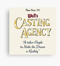 Walt's Casting Agency Canvas Print