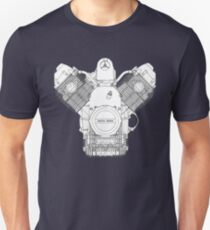 90° V-twin Longitudinal Crankshaft Moto Guzzi Engine Unisex T-Shirt