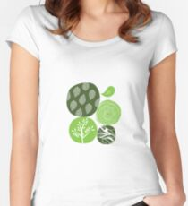 Abstract Nature Green Women's Fitted Scoop T-Shirt