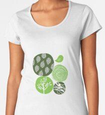 Abstract Nature Green Women's Premium T-Shirt