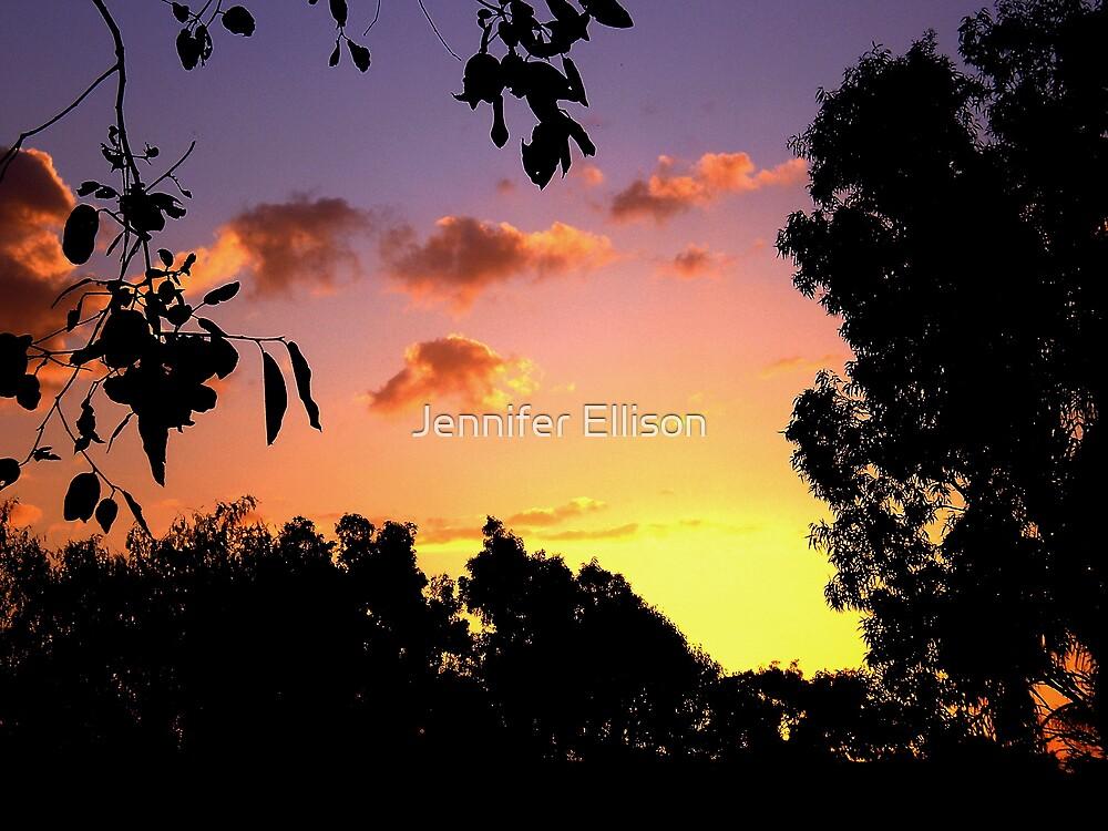 Autumn's Sunset by Jennifer Ellison