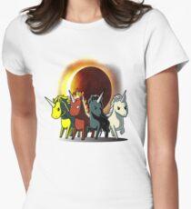 Vier Einhörner Reiter der Apokalypse Tailliertes T-Shirt