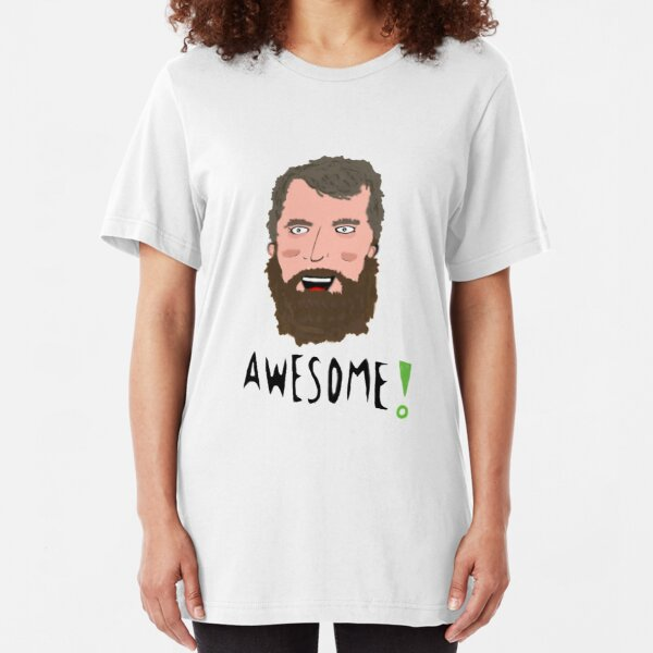 Brian Blessed is awesome Slim Fit T-Shirt