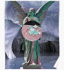 Vaporwave Angel Pills Poster